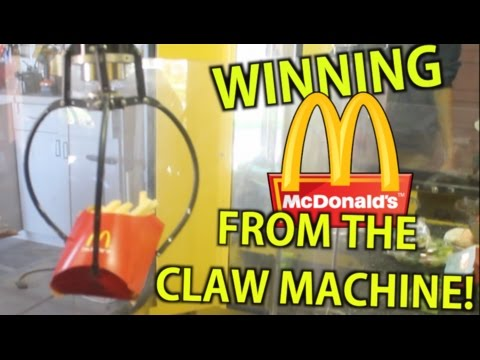 Winning Mcdonalds From The Claw Machine