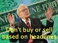 5 Best Investment Tips from Warrant Buffett
