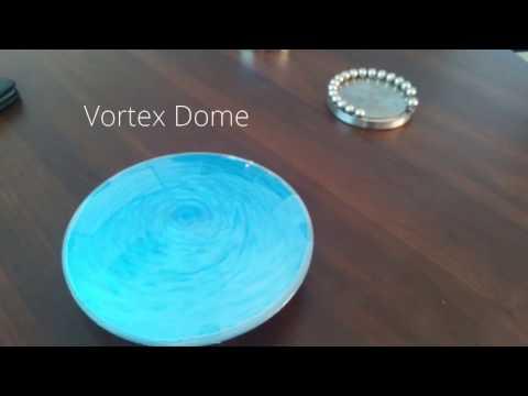 Vortex Dome, Rheoscopic Fluid Executive Desk Focus Fidget Toy - Like the Stargate!! :)