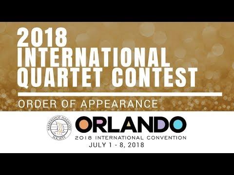 2018 International Quartet Contest - Order of Appearance