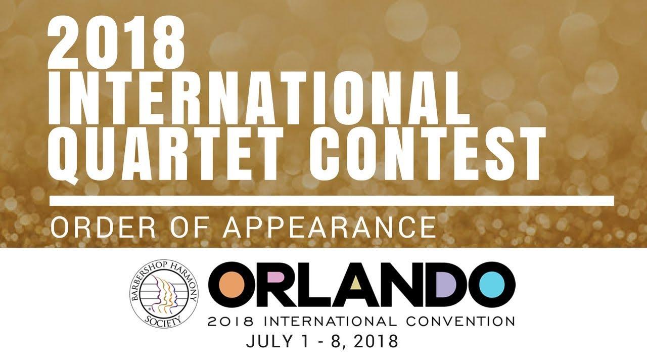Image result for bhs international barbershop quartet contest 2018