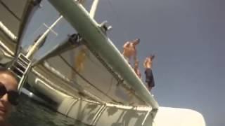 Cape Verde, 2013 catamaran jump.
