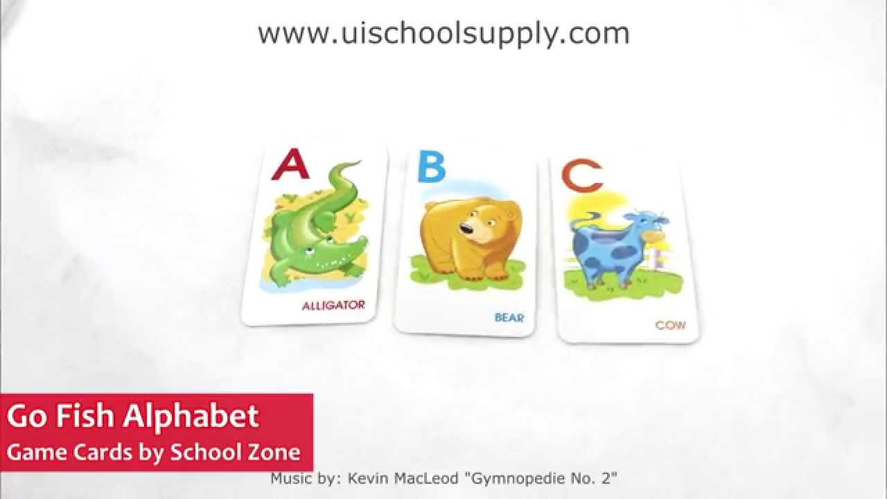 Go fish alphabet game cards by school zone szp05014 youtube for Go fish games