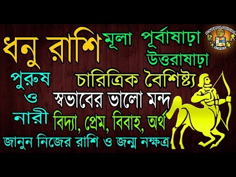 Dhanu Rashi Personality| Sagittarius Personality|धनु राशि|ধনু রাশির চারিত্রিক বৈশিষ্ট্য|April 2017