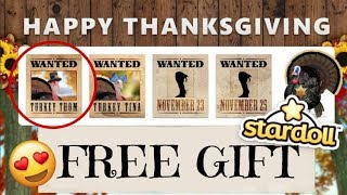 Stardoll FREE STUFF 2017 - Thanksgiving Turkey ( Day 1 )