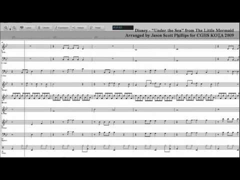 Disney Under the Sea Sheet Music - Jason Scott Phillips