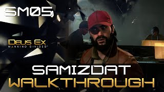 Samizdat is an optional mission in Deus Ex Mankind Divided If you choose to play it youll either help or hinder a group of dissident journalists working out of a