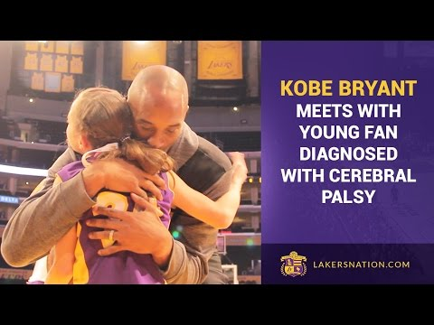 Kobe Bryant Surprises Young Girl, Diagnosed With Cerebral Palsy