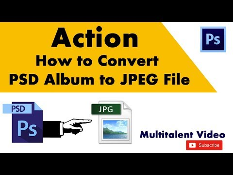 How To Make A PSD Album To JPEG File Formate In Photoshop In Hindi Tutorial