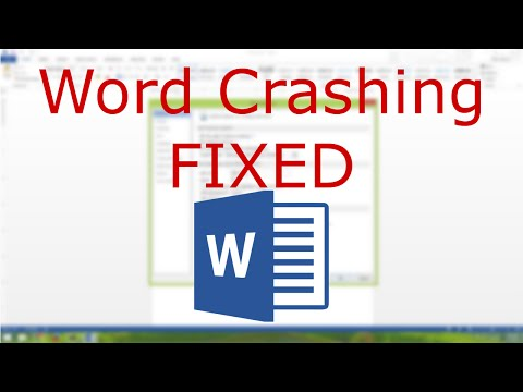 Word 2013 - Documents Crash When Opening FIXED - YouTube