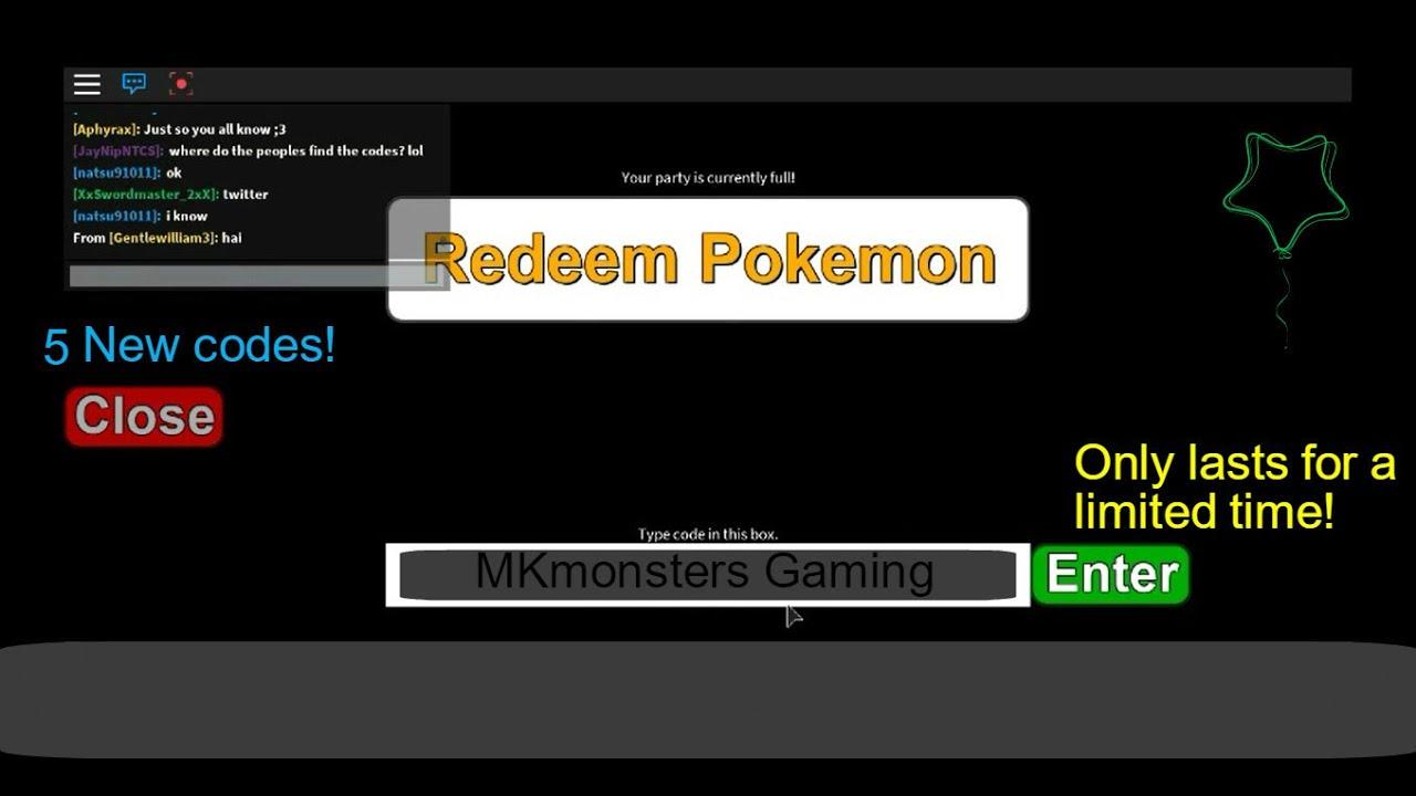 roblox project pokemon codes