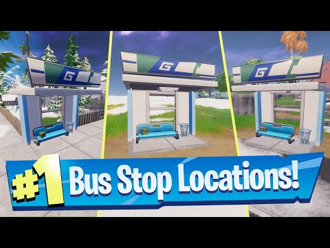 Visit Different Bus Stops In A Single Match Locations  - Fortnite (Remedy Vs Toxin Challenge)