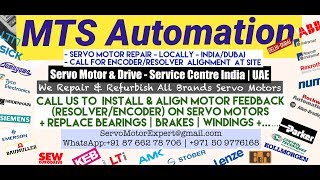 MTS Automation Arab GCC Servo Motor Drive Encoder Align Resolver Adjust Repair UAE Oman Saudi KSA