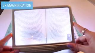 3x Rechargeable LED Page Magnifier Perfect for Reading Small Fonts