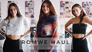 ROMWE TRY-ON HAUL & REVIEW // winter style edition