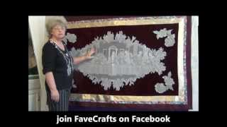 How To Make A Last Supper Wallhanging Using A Lace Tablecloth