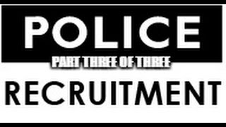 The Hiring Process Of Becoming A Police Officer - Part Three Psychological Test