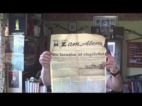HOW THE GERMANS REPORTED D DAY,METZER ZEITUNG NEWSPAPER,6 JUNE 1944