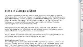 Shed Plan Experts