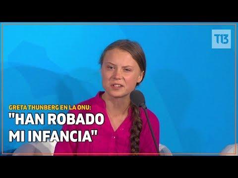 Emotivo discurso de Greta Thunberg en la ONU