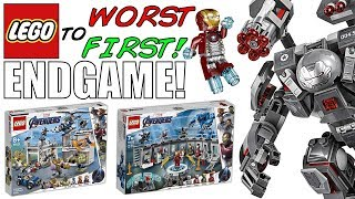 Worst To First ALL LEGO Avengers Endgame Sets!