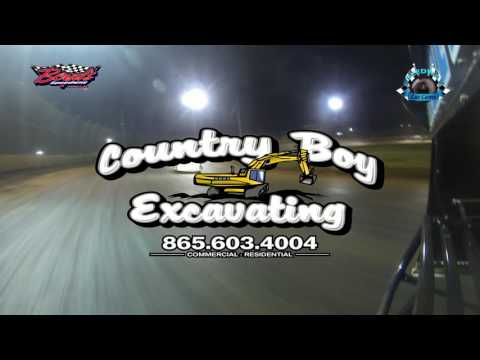 #J21 Justin Begley - Sportsman - Rear Cam - 4-15-17 Boyd's Speedway - In-Car Camera