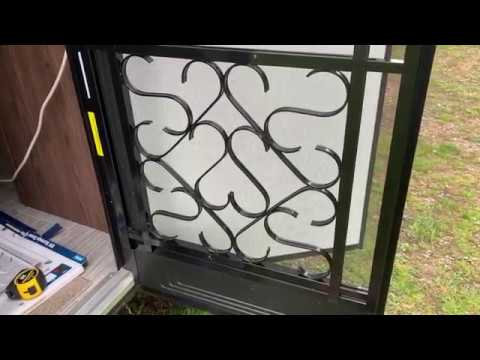 Easy Camco Rv Screen Door Grille Install Youtube