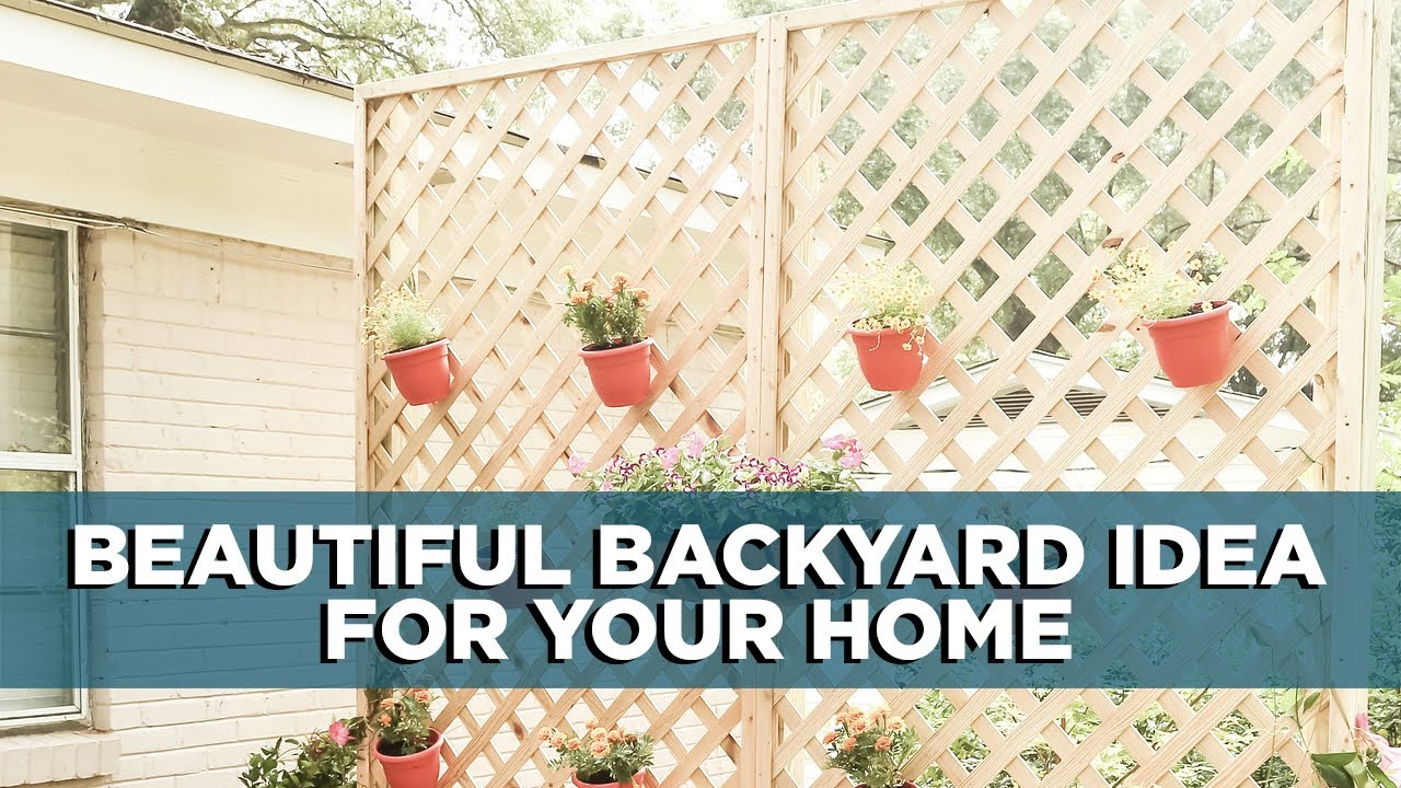 Create a Privacy Wall with Lattice and Decorative Plants - YouTube