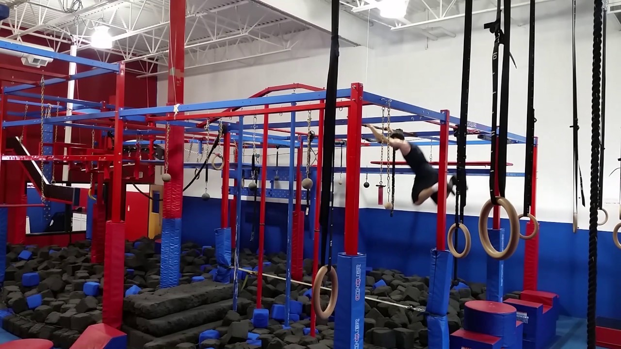Matthew sudduth training at conquer ninja warrior gym in