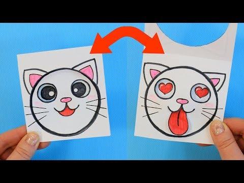 Антистресс открытка с Котиком
