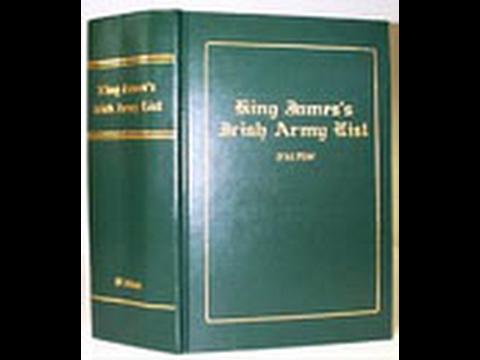 Irish Army List; Morrow, MacMorrow, Murrough; Ireland Genealogy; James II,  IF#159