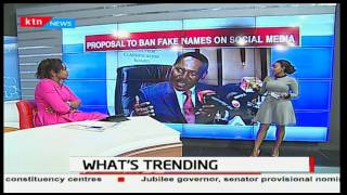 Ezekiel Mutua proposes a ban to fake names on social media to curb fake news