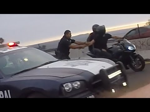 Police VS Motorcycle BUSTED By ANGRY COP Bike CAUGHT Running From The Cops Biker Gets ARRESTED 2016