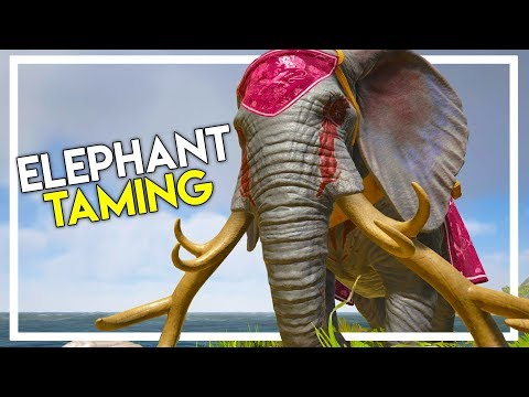 Our FIRST TAME in Atlas - Elephant Taming! (Ark Atlas Gameplay #17)