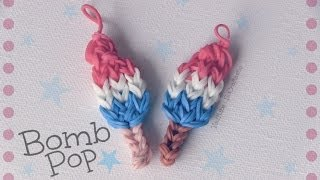 vuclip Rainbow Loom : Bomb Pop Charm - How To - Popsicle // Ice Lolly