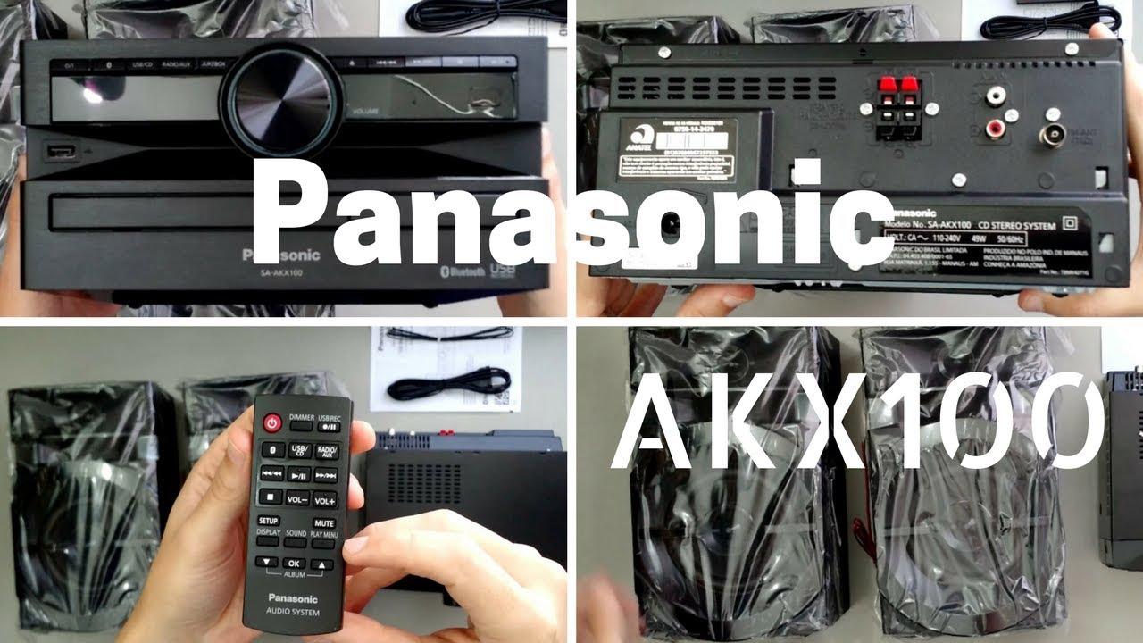 Mini System Panasonic Sc-akx100lbk 250w De Pot U00eancia