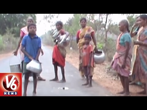 People Facing Problems With Shortage Of Drinking Water | Khammam District | V6 News