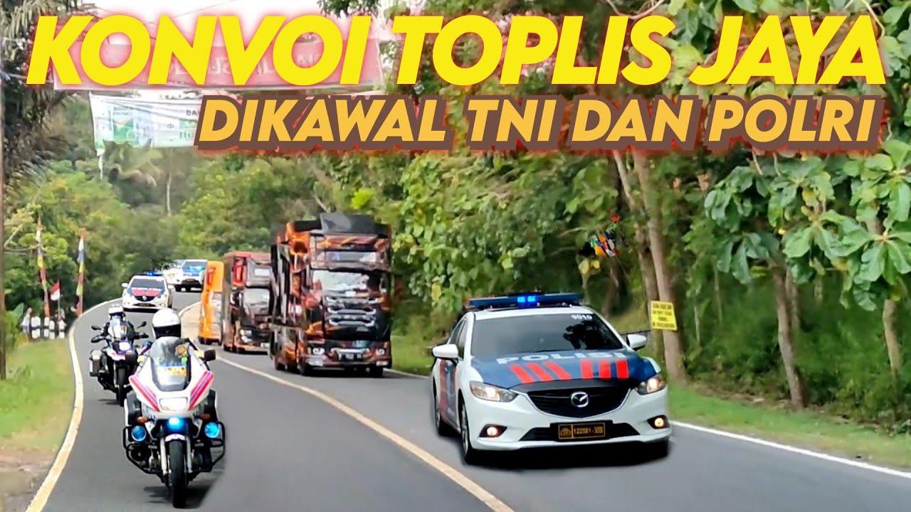 Download Konvoi Truk TOPLIS JAYA Dikawal TNI POLRI Bikin Geger Jalur Selatan Menuju Bandung