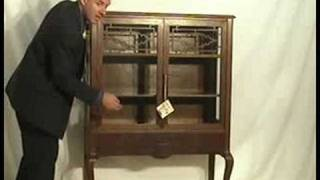 Walnut Curio Cabinet Bu07  Ohio's Old Wood Market