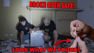 FOUND AN ABANDONED SAFE! *Broke into it* (This is what we found)