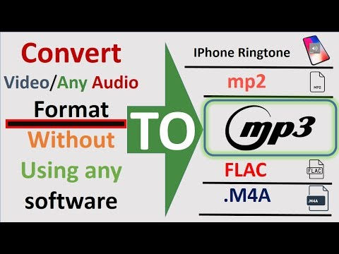 Convert Video/Audio To Mp3,iPhone Ringtone,wav,m4a,flac,ogg,mp2,amr Without Using Any Software