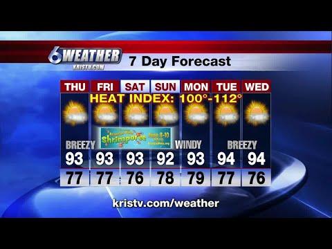 Coastal Bend weather forecast 6/6/18 6PM