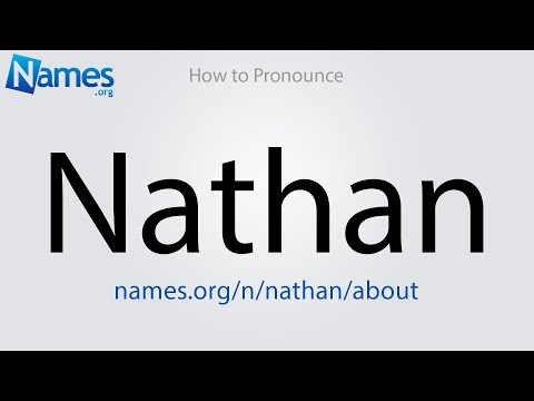 How To Pronounce Nathan Youtube