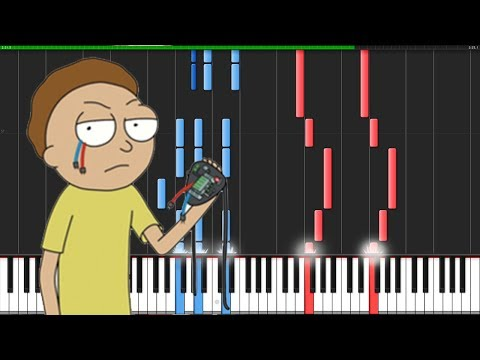 Evil Morty Theme - Rick and Morty [Piano Tutorial] (Synthesia) // Knight Pianist ChacelX