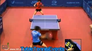 Feng Tianwei Vs Liu Gaoyang: Round 2 [Korea Open 2013]