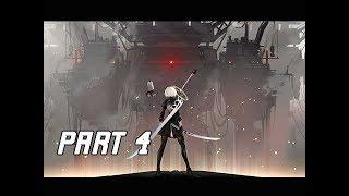 NIER AUTOMATA Walkthrough Part 4 - GOLIATH (PC Let's Play Commentary)