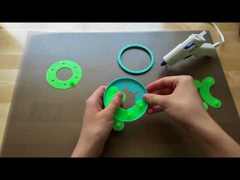 3D Printed Mechanical Iris Assembly