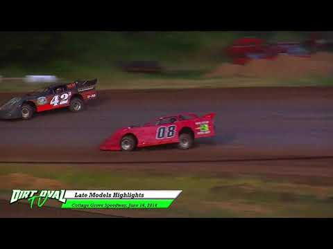 6 16 18 Cottage Grove Speedway Late Models Highlights