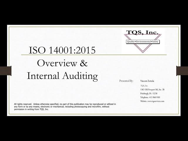 ISO 14001 2015 Demo