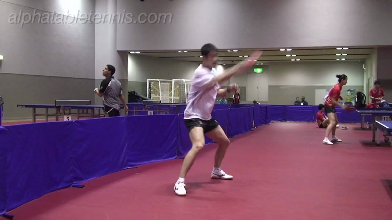 wang liqin forehand counter loop timing